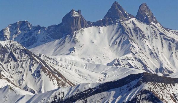 Les aiguilles d'Arves, dans les Alpes (Savoie)